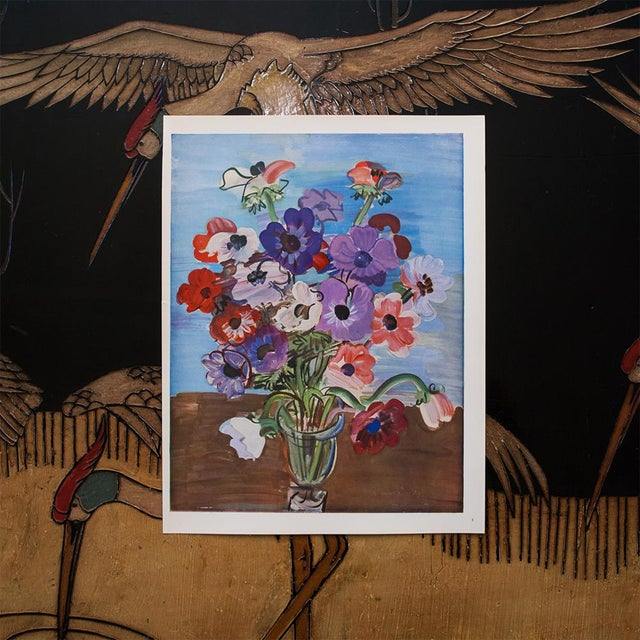French 1940s Raoul Dufy Bouquet Original Period Swiss Lithograph For Sale - Image 3 of 6