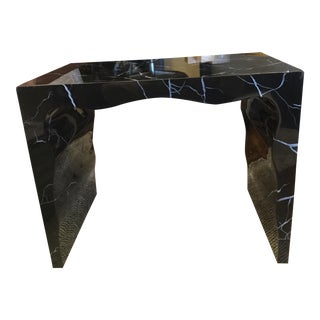 Foster Black Resin Bench For Sale