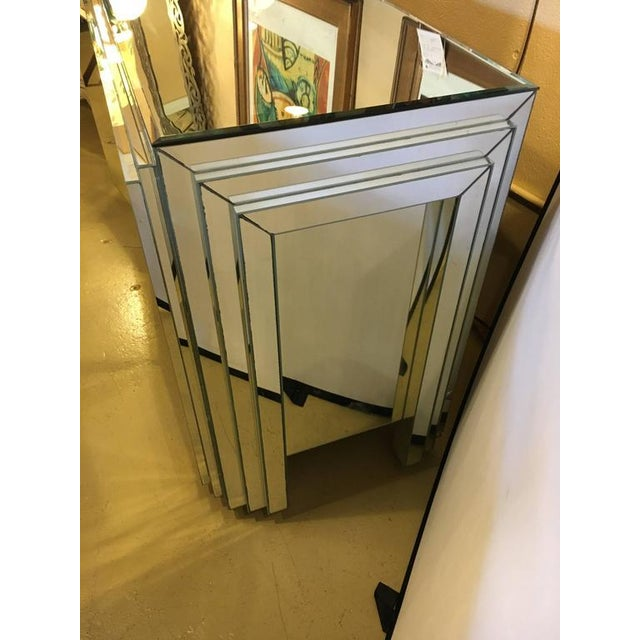 Hollywood Regency 4-Door Mirrored Side Board or Dresser For Sale - Image 4 of 8