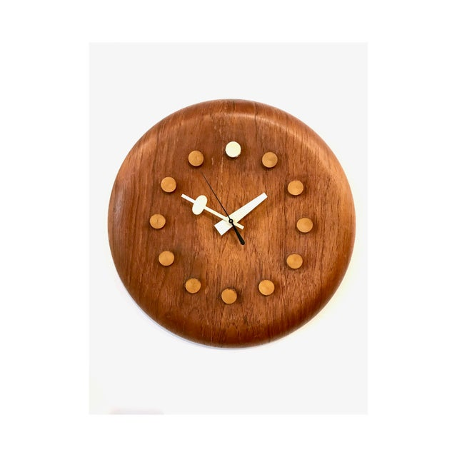 Vintage George Nelson / Fritz Hansen Wall Clock 1950's For Sale - Image 11 of 11