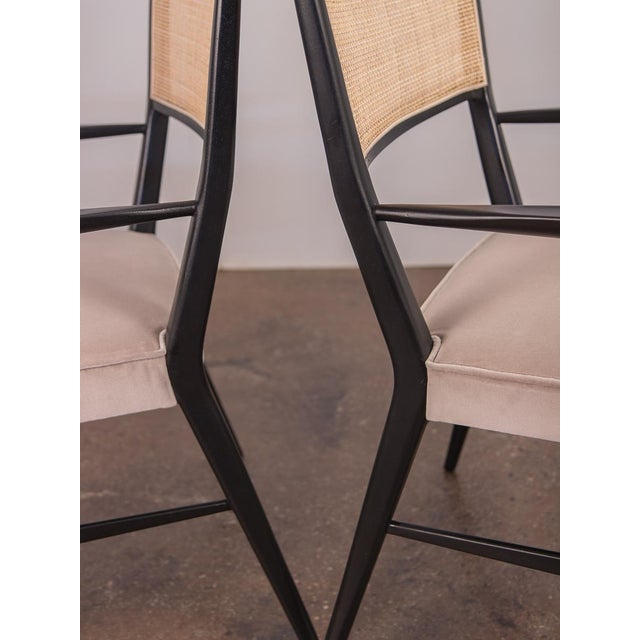 1950s Paul McCobb Ebonized Occasional Chairs - a pair For Sale - Image 5 of 10