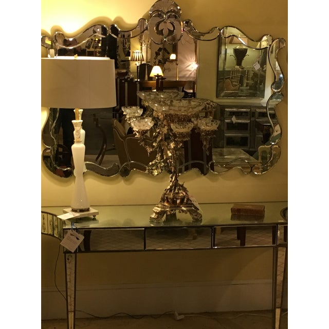 Venetian Style Over Mantle or Console Mirror For Sale - Image 7 of 8