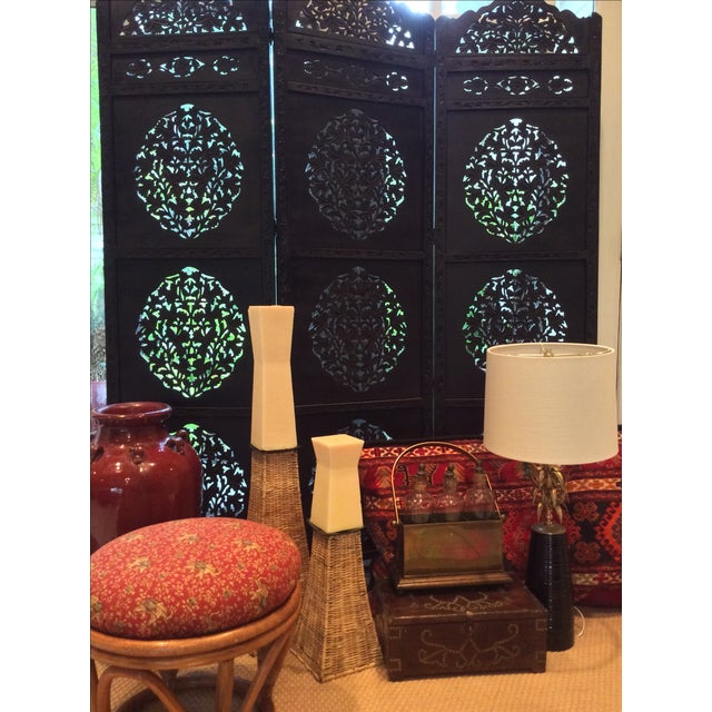 Moroccan Wooden Carved Screen - Image 4 of 5