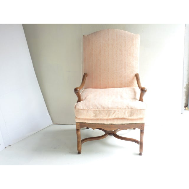 Soft Peach Louis XV-Style Fauteuil - Image 2 of 5