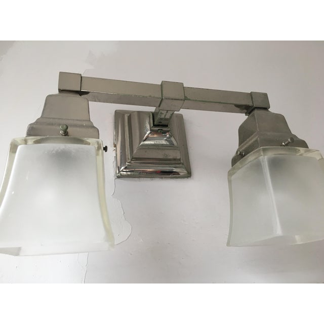 Urban Archeology Town Double Shade Sconce For Sale - Image 5 of 6