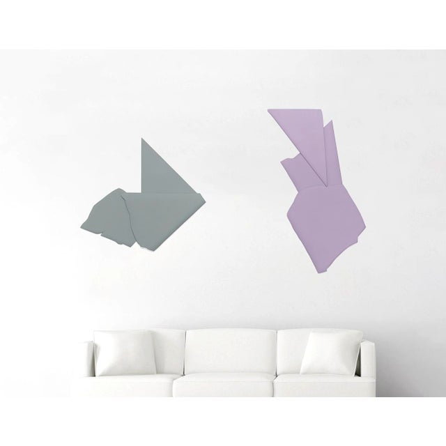 """Contemporary Jaena Kwon """"Variation of Sharp"""" Minimal Abstract Colorful Acrylic Wood Shape Artworks For Sale - Image 3 of 4"""