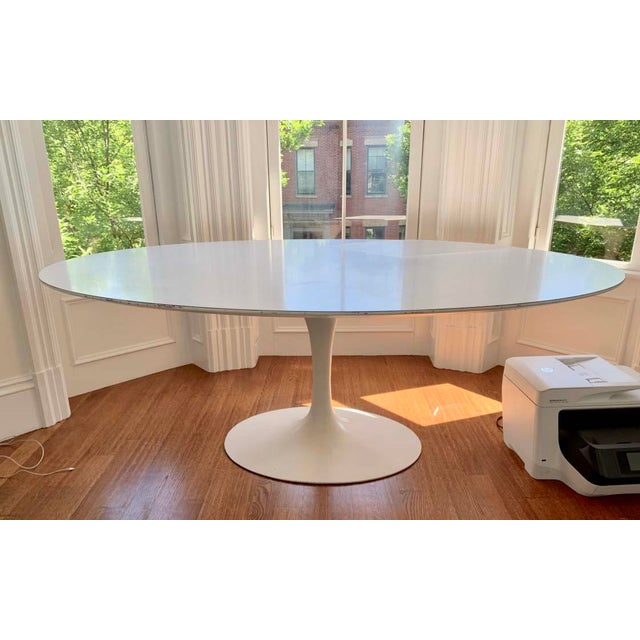 Aluminum Mid-Century Modern Eero Saarinen Tulip Dining Table For Sale - Image 7 of 7