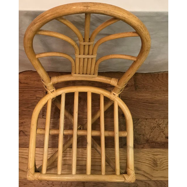 Wood Vintage Mid Century Bamboo Chair For Sale - Image 7 of 10