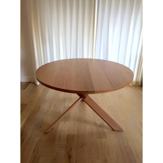 Round Oak Dining Table - Image 3 of 4