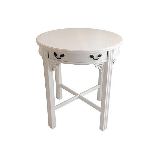 White Lacquer Side Table - Image 2 of 4