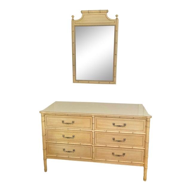 """Henry Link """"Bali Hai"""" Dresser & Mirror Set For Sale"""