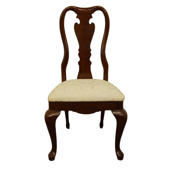 Late 20th Century Thomasville Furniture Collectors Cherry Collection Dining Side Chair For Sale - Image 11 of 11