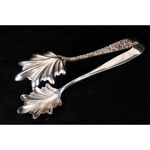 Traditional Early 20th Century Kirk & Son Tongs in Rose Repousse Pattern For Sale - Image 3 of 5