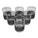 Image of 1960s Georges Briard Basketweave Glasses - Set of 6 For Sale