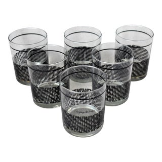 1960s Georges Briard Basketweave Glasses - Set of 6 For Sale