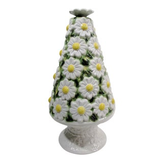Italian Ceramic Daisy Topiary Centerpiece For Sale