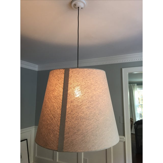 Tapered Drum Pendant in Linen - Image 5 of 6