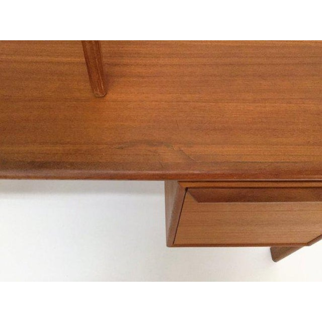 Danish Teak Double Pedestal Desk with Matching Chair For Sale - Image 9 of 10