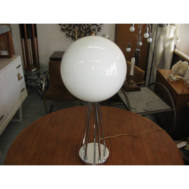 Mid-Century Modern Chrome Table Lamp - Image 7 of 11