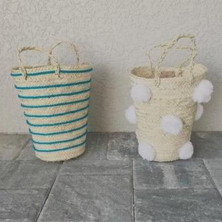Moroccan White Pompom Basket Preview