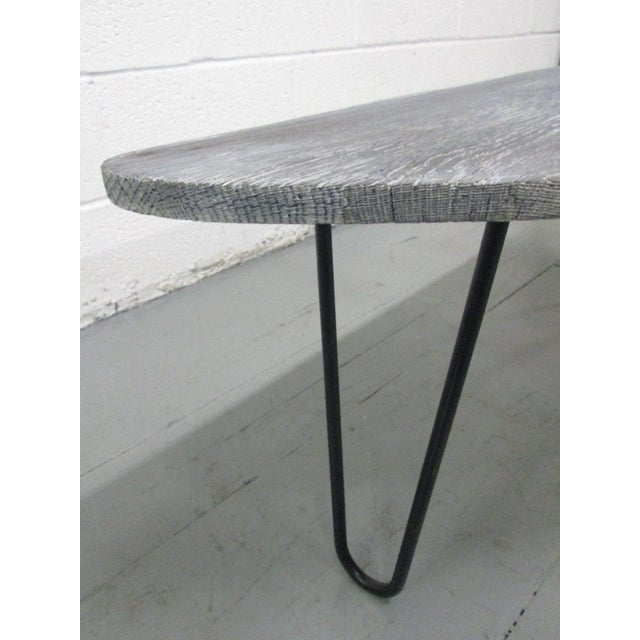 Mid-Century Modern French Cerused Organic Form Coffee Table For Sale - Image 3 of 5