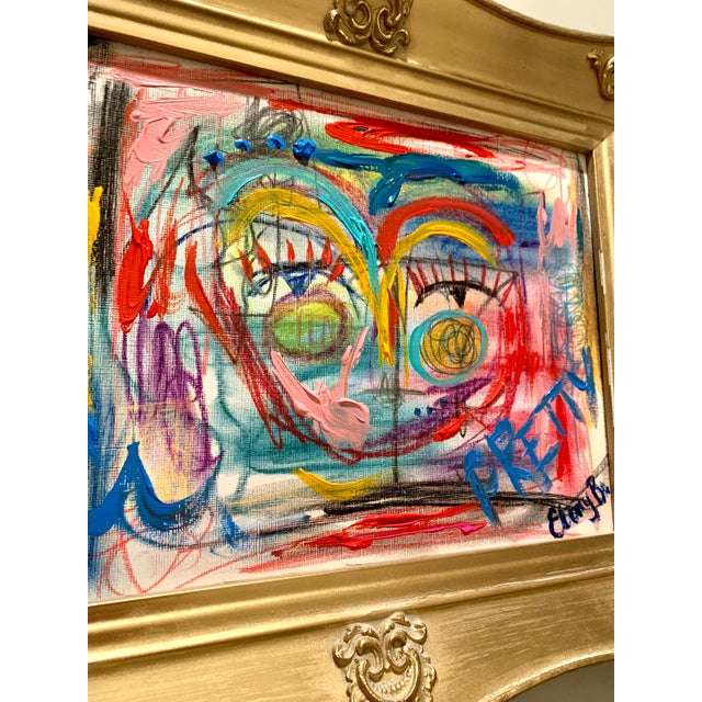 """""""Pretty Perfect"""" is perfect! The combination of colors, soft pastels, and acrylic give this painting so much texture and..."""