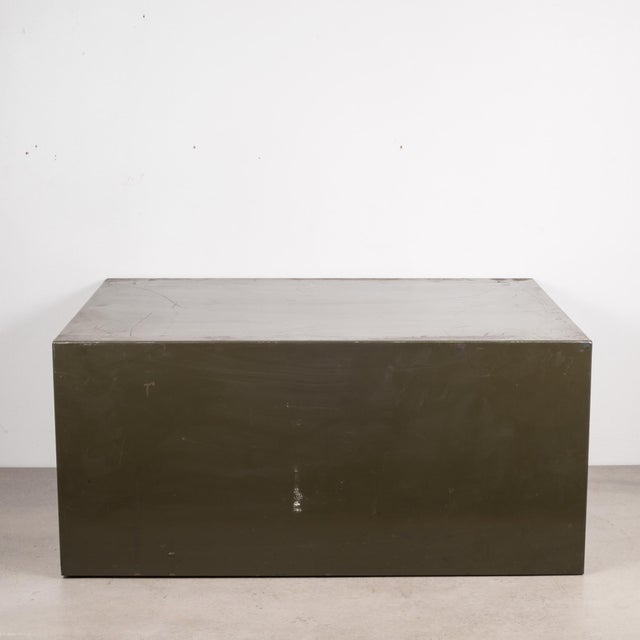 Industrial Army Green Factory Cabinet C.1940 For Sale In San Francisco - Image 6 of 10