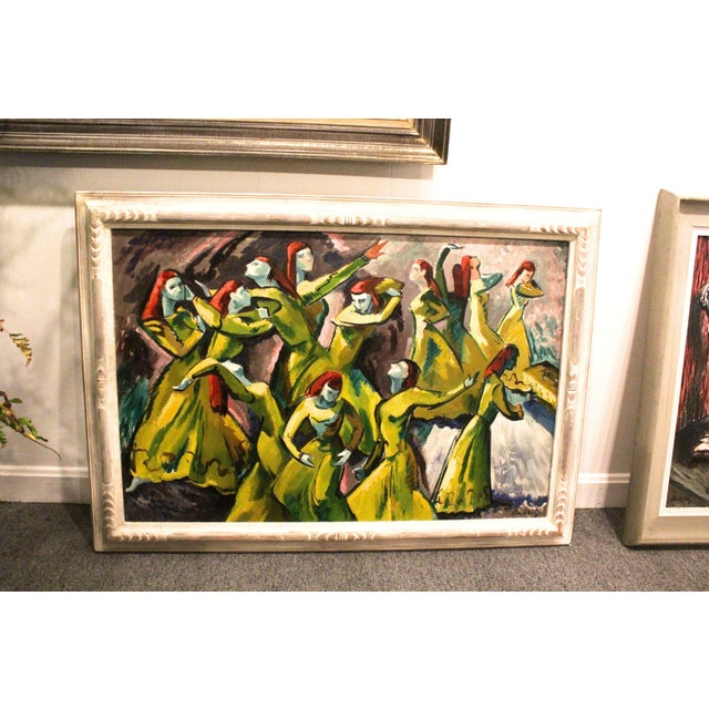 Vintage Mid-Century Frederick Buchholz Maelstrom Dancers Painting For Sale In New York - Image 6 of 6
