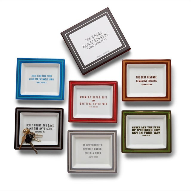"The "" Wise Sayings "" of famous gentleman in a trinket tray. Perfect on an entry table, dresser or closet island for..."