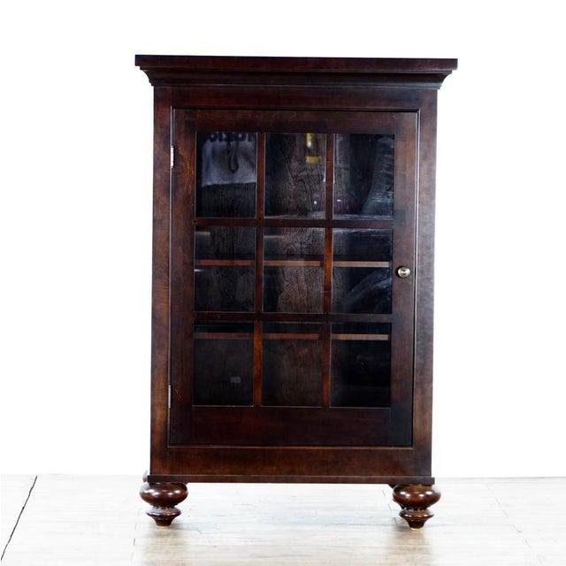 Brown Restoration Hardware Storage Cabinet For Sale - Image 8 of 8