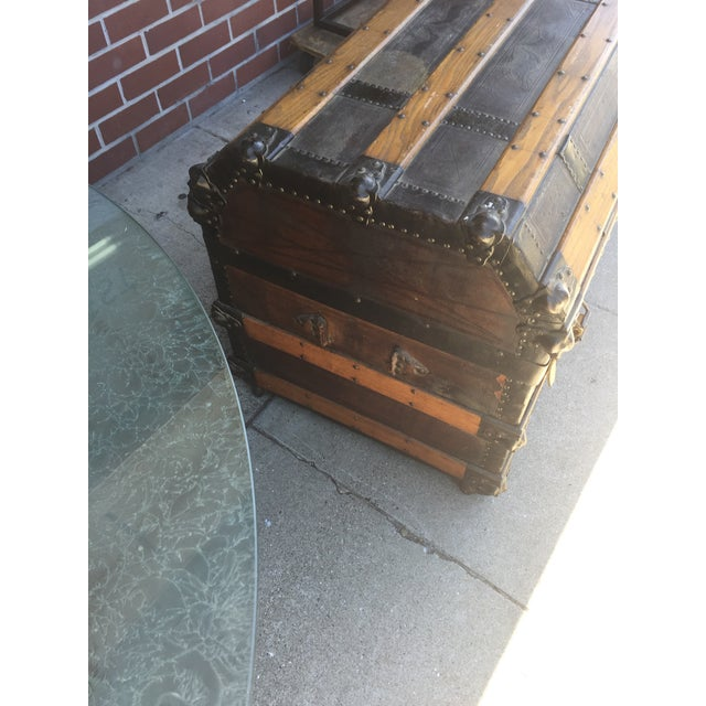 Late 19th Century Antique Stagecoach Trunk Steamer For Sale - Image 5 of 13