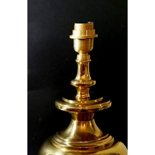 Brass Vintage Italian Table Lamps in Polished Brass - a Pair For Sale - Image 8 of 13