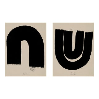 Contemporary Minimalist Abstract Giclee Prints - a Pair For Sale