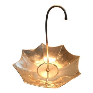 Mid-Century Brass Umbrella Candy Dish
