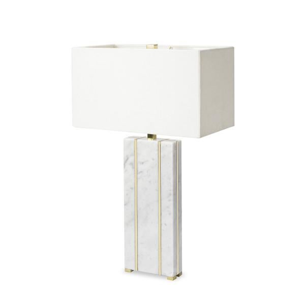 Marble Table Lamp - Rectangular.