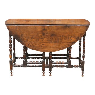 19th Century William & Mary Gateleg Table For Sale