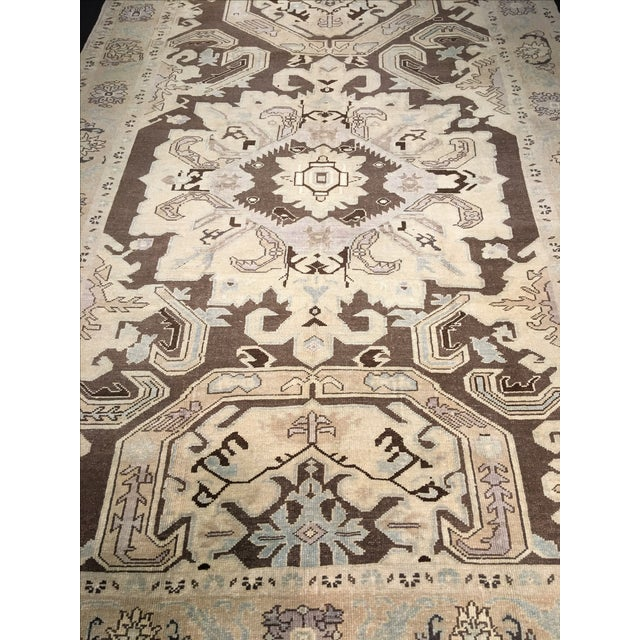 "Vintage Turkish Oushak Rug - 6' X 9'5"" - Image 3 of 8"