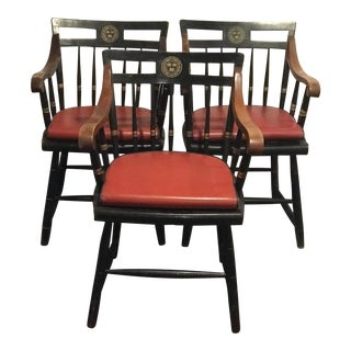 Vintage Mid Century Nichols & Stone Harvard Windsor Chairs- Set of 3 For Sale