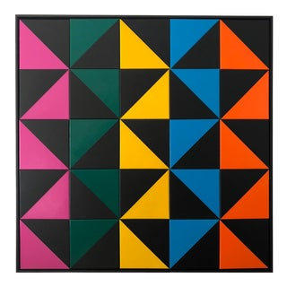 "Original Acrylic Painting ""Mosaic Configuration #6"" For Sale"