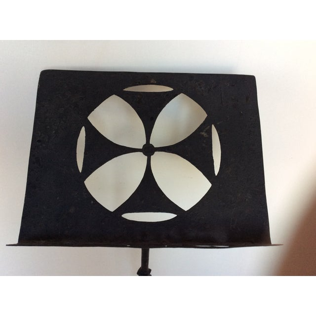 Antique Iron Lectern With Maltese Cross For Sale - Image 4 of 8