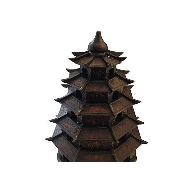 Chinoiserie Carved Wood Pagoda - Image 2 of 3