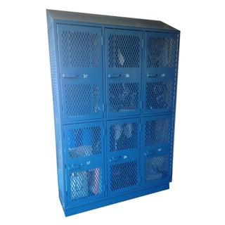 Large Blue Metal Storage Locker For Sale