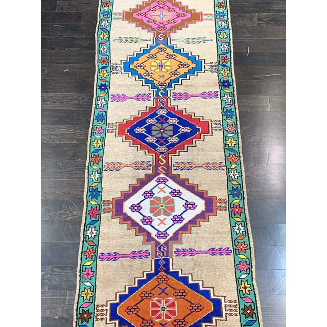Contemporary Contemporary Oushak Runner Rug - 2′11″ × 10′5″ For Sale - Image 3 of 13