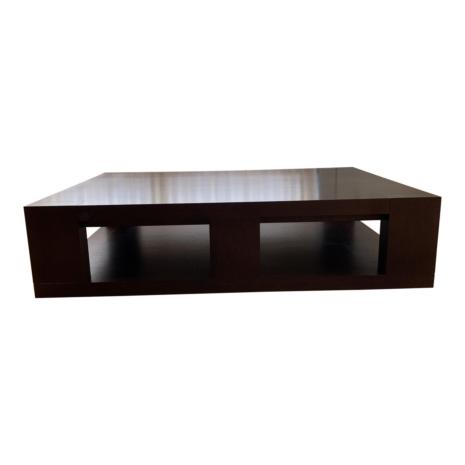 . Christian Liaigre Contemporary Walnut Coffee Table