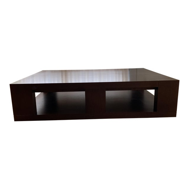 Christian Liaigre Contemporary Walnut Coffee Table For Sale