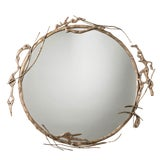 Image of Transitional Arteriors Home Brass Ivy Wall Mirror For Sale