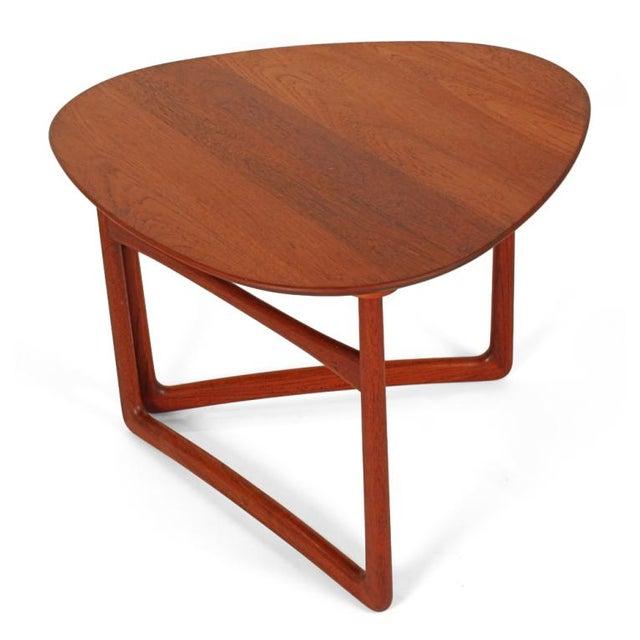 6087c00d1135b Peter Hvidt   Orla Mølgaard-Nielsen Triangular Folding Occasional Table For  Sale - Image 9