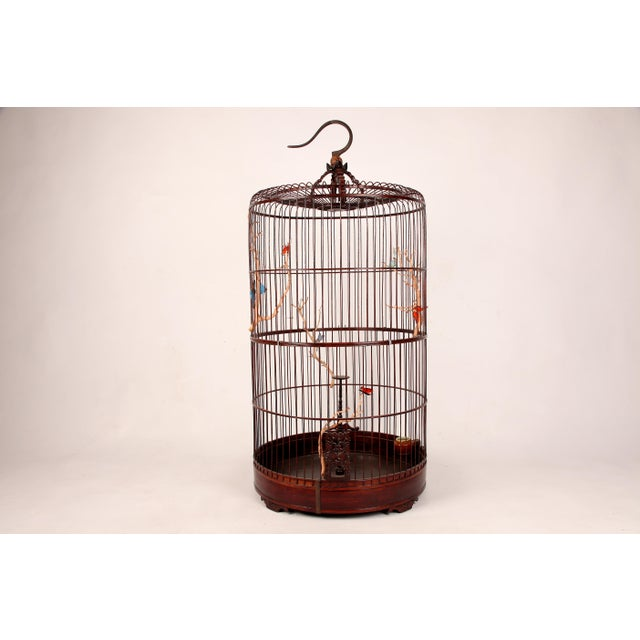 Wood Early 20th Century Chinese Bamboo Cage For Sale - Image 7 of 8