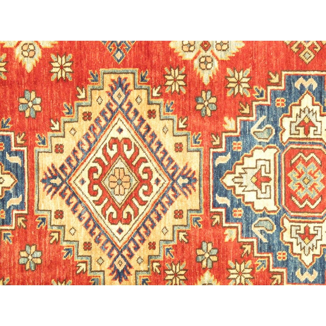 """Kazak Lamb's Wool Rug- 4'8"""" X 6'5"""" - Image 2 of 3"""