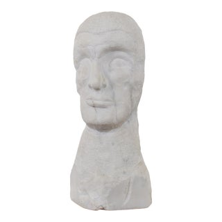 Outsider Art Marble Bust For Sale